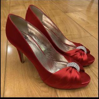 "DYOS 結婚婚宴 公司晚宴高踭鞋 women high heels shoes for wedding annual dinner high heels shoes 4""tall size 39"