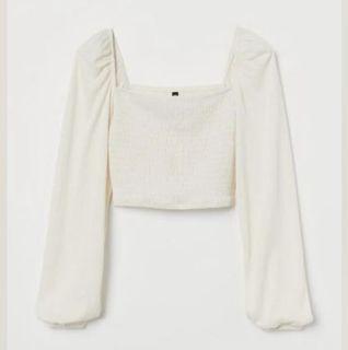 H&M Cream Long Sleeve Top