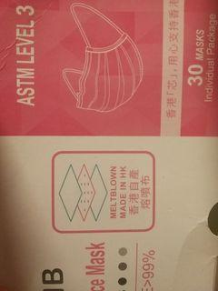 Level 3 口罩  $39.9 一盒!!! 只求出貨