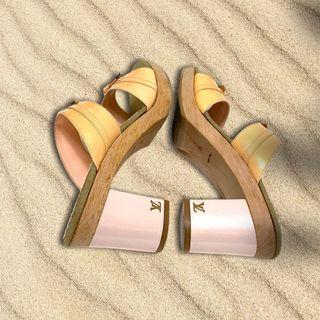 🍒LOUIS VUITTON夏的萊姆黃高跟鞋3G210509-1R