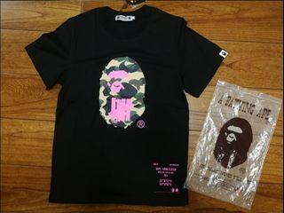 (XL)Undefeated Bape Tee have Black Pink