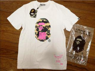 (L&XL)Undefeated Bape Tee have White Pink