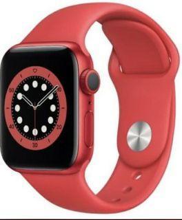 [MINT] RED Apple Watch 6, LTE+GPS - 40MM