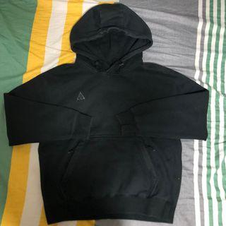 Nike acg 黑色 鋪棉 挺版 帽T