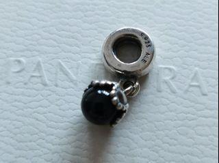 Pandora black onyx dangle