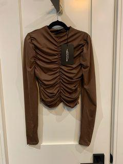 PLT Ruched Long Sleeve Top