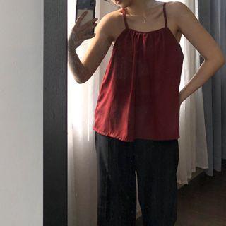 Red off shoulder (Sabrina) & tank top