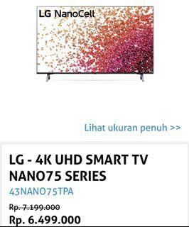 Tv lg nanocell 43 inchi smart baru