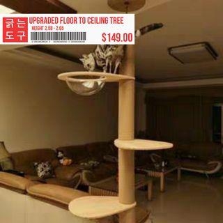 *UPGRADED Cat Tall Ceiling Capsule Tree