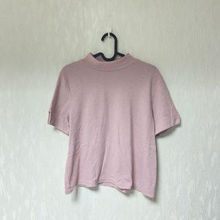 圓領粉色短袖
