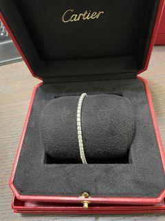 正品 Cartier LIGNES ESSENTIELLES 排鑽手鍊 15號