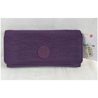 🆓 Kipling Teddi Long Wallet in Deep Purple Violet