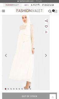 Aere Tweed Abaya in Cream