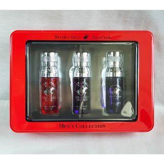 Beverly Hills Polo Club BHPC BLAZE, CHAMPION, BLUE by Beverly Fragrances Eau de Toilette EDT Perfume Spray for Men 15ml 3pc Set