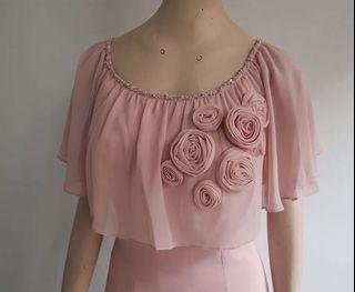 Dress pink nude mewah - Fluorescence
