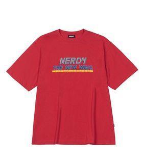 全新Nerdy The New Wave T-shirt 韓國品牌短袖上衣 T恤 紅色 S號 #LoveIsLove