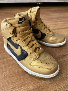 Nike Dunk High Gold Women US6.5 *RARE*