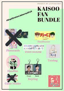Paket Kaisoo Fan Bundle by LOVEKAIDO (EXO)