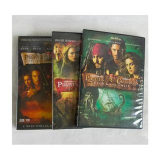 SALE🏴☠️ Pirates of the Caribbean 123 DVDs