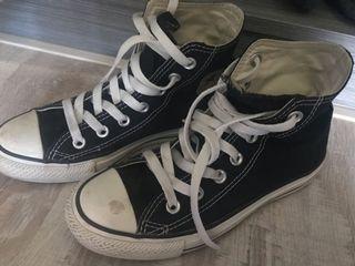 23cm Converse 黑色低筒帆布鞋