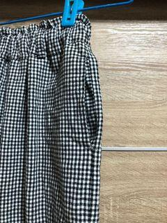 黑白格紋褲
