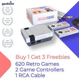 ✅ GameBox Retro TV Game Console NES Classic + Above Freebies