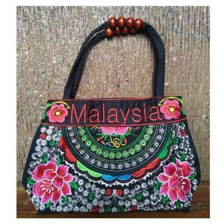 🍹Black Beach Floral Summer Purse Bag