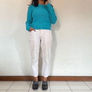 Blue/Mint Knit Sweater   Naf Naf