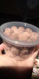 Bola susu mini coklat