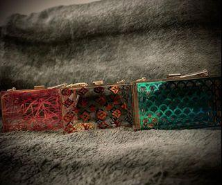 Clear crossbody clutches