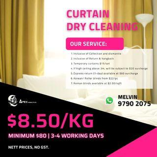 CHEAP AFFORABLE Curtain/Blinds Dry Cleaning Washing Service HOME SERVICE