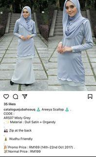 FREE SHIPPING Baju kurung scallop jubahsouq