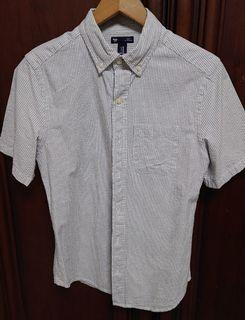 GAP 短袖襯衫 XS 條紋 男 XS (近Uniqlo S)
