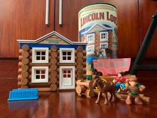 The Original Lincoln Logs Stagecoach Station 75 pcs