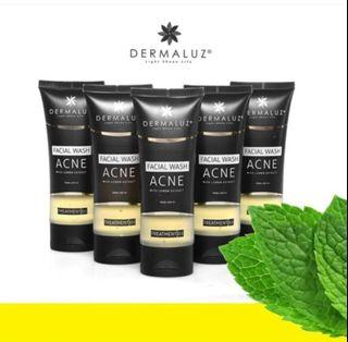 New DERMALUZ Facial Wash Acne with Lemon Extract