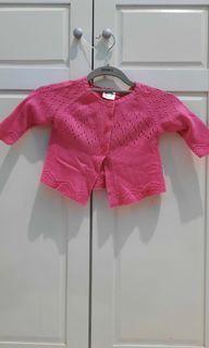 Outer baju bayi rajut