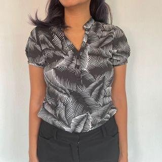 The Executive Smart Casual Monochrome Blouse OOTD