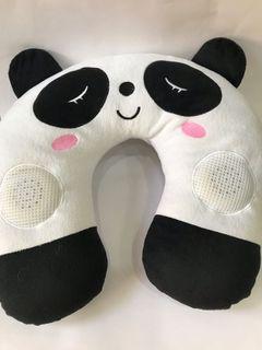 熊貓音樂喇叭U型頸枕
