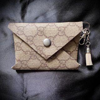 Upcycled Repurposed reworked card holder wallets