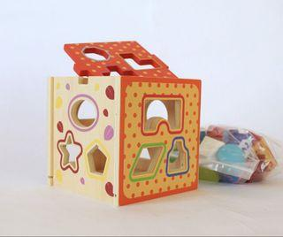 Wooden puzzle number/puzzle kayu angka anak/puzzle number in a box