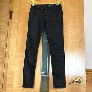 Zara低腰彈性休閒長褲(27吋腰圍/Slim Fit)