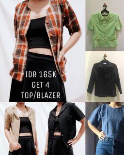 4 Paket Hemat/Bundle Deal Atasan/Blouse/Blazer/Outer