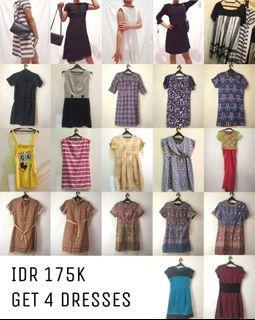 4 Paket Hemat/Bundle Deal Dress Batik