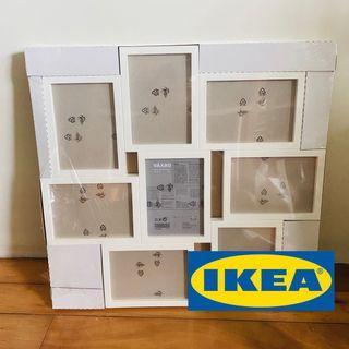 ✨全新🖼️相框 VÄXBO 拼貼相框 IKEA 白色 (可放8張照片)