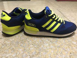 adidas 運動 休閒鞋 寶藍色螢光綠 日本帶回不撞鞋