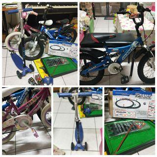 Bundle of bicycle with free toys