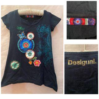 Desigual Embroidered Print Dress_5-6T on tag but fits earlier 4-5T_Euc