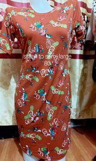 Brown body contour dress