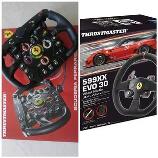 Free Delivery PS5 PS4 PS3 PC Xbox Thrustmaster Logitech Ferrari 599xx Alacantra F1 wheel add on