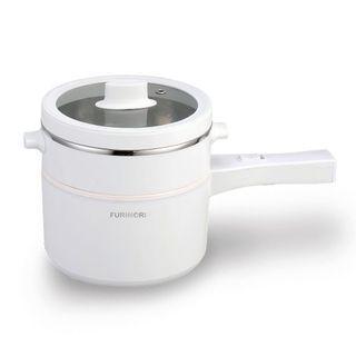 富力森FURIMORI 2L多功能快煮鍋 FU-EH217 (附蒸籠)蒸鍋 電火鍋 不沾鍋